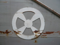 Iron Paradise (oerendhard1) Tags: sign metal port boat rotterdam iron paint paradise ship harbour steel rusty bow thruster boegschroef