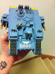 Land Raider Front (Brokksamson) Tags: miniature 40k tabletop warhammer40k gamesworkshop spacewolves