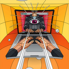 Mind Control 2 (Dmitri Aske) Tags: eye illustration notebook laptop scifi vector aske sicksystems