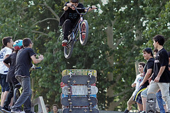 BMX rider in Tbilisi, Georgia (Simon Christiaanse) Tags: park city boys bike bicycle georgia jump bmx ramp caucasus excitement skateboards tbilisi sakartvelo   simonchristiaanse
