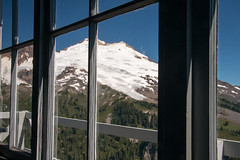Mt. Baker from inside the Park Butte Fire Lookout (Matt McGrath Photography) Tags: snow window washington glacier firelookout westernwashington mtbakersnoqualmienationalforest parkbutte