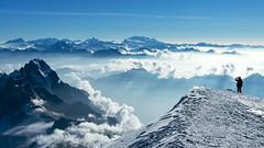 Mont Blanc ... 8 (TomFahy.com) Tags: morning travel sky people cloud mountain snow france alps rock landscape climb glacier climbing alpine mountaineering summit monterosa matterhorn chamonix montblanc dentblanche weisshorn grandcombin grandesjorasses sonydscr1 dentdugant photocompwanderlust20121016