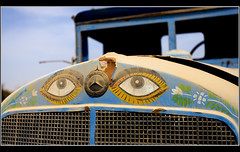 Mercedes Eyes (Dune_UK) Tags: world old travel blue two eye art look car liverpool truck joseph mercedes j photo blog eyes war different photographer image sale sold photograph ii german frame saudi arabia wife latex jeddah seen scrap abandonned glynne pritchard scouser jiddah