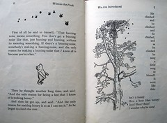 """""""And the only reason for making honey is so as I can eat it."""" (Lise Petrauskas) Tags: bear original usa rabbit art illustration vintage portland photography book photo blackwhite artist drawing or bees bears photograph owl winniethepooh piglet eeyore childrensbook authentic hardcover aamilne ehshepard lisepetrauskas"""