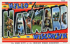 """""""Hello"""" from Hayward, Wisconsin, The Hub City of the Indian Head Country - Large Letter Postcard (Shook Photos) Tags: wisconsin linen postcard postcards greetings hayward linenpostcard bigletter haywardwisconsin largeletter largeletterpostcard linenpostcards largeletterpostcards bigletterpostcard bigletterpostcards"""