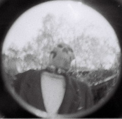 Fisheye Baby 110: Skeletons in the closet (kevin dooley) Tags: bw baby fish film mi analog circle lens skeleton fun blackwhite scary lomo lomography funny angle natural michigan humor 110 grain wide fisheye haha grainy skeletons scare extra circular fishy bentonharbor lomographyfisheye tempecamera fisheyebaby skellville fisheyebaby110 baby110 skelville lomographyfisheyebaby lomographyfisheyebaby110