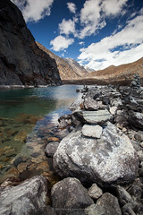 Gokyo Lake I with Cho Oyu at the Horizons (Zolashine) Tags: nepal trekking himalaya khumbu 2012 gokyo gokyovalley chooyu khumburegion sagarmathanationalpark dudhpokhari pichayaviwatrujirapong dudhkpokhari gokyolakei
