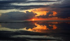 Mirror (pominoz) Tags: reflection clouds sunrise newcastle nsw dudley dudleybeach