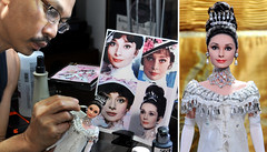 applying finishing touches to custom repaint of Audrey Hepburn My Fair Lady (ncruzdolls) Tags: audreyhepburn customizeddoll dollart myfairlady ooakdoll dollphotography elizadoolittle ooakrepaint dollartist matteldoll celebritydoll dollrepaint custombarbie customizedbarbie audreyhepburndoll noelcruz noelcruzrepaint mattelcelebritydoll noelcruzdoll noelcruzart ooakdollrepaint dollrepaintartist noelcruzcelebritydoll myfairladydoll elizadoolittledoll