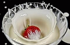 Splosh (Jez22) Tags: fruit dessert yummy strawberry cream tasty bowl splash splosh