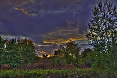 Seasons Change.. (Bill Humason) Tags: sunset ohio sky fall colors clouds woods nikon champion hdr d90