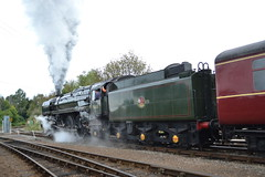 BR Standard Class 7 70013 Oliver Cromwell - Barrow Hill Roundhouse (dwb transport photos) Tags: steam locomotive standard roundhouse olivercromwell britishrailways barrowhill 70013