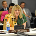 Nobel Peace Laureate Jody Williams speaks at the high-level event \