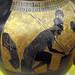 Exekias, Attic black figure amphora, detail with Achilles