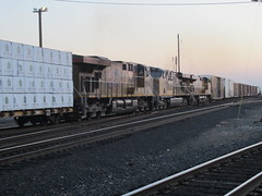 Mid-Train GEVOs in Roseville, CA (CaliforniaRailfan101 Photography) Tags: up yard nightshot norden amtrak chase unionpacific alta donnerpass roseville geep 484 alco sodasprings gp382 californiazephyr sd60m rotarysnowplow gp402 scotchlite sd60 gevo c408w sd70m sd70ace es44ac ac4400cw mp15ac c45accte jrdavisyard unionpacific844 passengerspecial midtraindpu up844chasedowndonnerlayoveratroseville up844chase