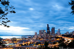 15 Seconds over Seattle (Edwin_Abedi) Tags: seattle city longexposure urban architecture exposure cityscape freeway
