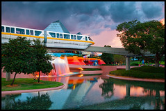 The Beauty of Epcot (Silver1SWA (Ryan Pastorino)) Tags: world sunset canon epcot disney monorail wdw walt canon5dmarkii