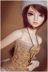 Copper And Gold (Einwegherz) Tags: girl ball doll slim little monica harmony corset bjd msd jointed irin littlemonica