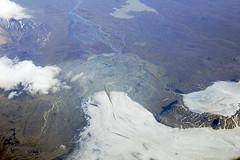 Above glacial lobe with medial moraine, Vatnajokull National Park, Iceland (cocoi_m) Tags: ice nature iceland stream glacier geology moraine vatnajokull glacial geomorphology aerialphotograph medial terminalmoraine medialmoraine vatnajokullnationalpark glaciallobe