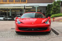 458 Italia (V12Khan | Photography) Tags: red canon singapore italia ferrari rosso 458 600d
