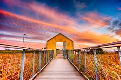 Open Doors and Setting Suns (Bryan Nabong) Tags: california ca door wood sunset usa texture northerncalifornia clouds unitedstates path sanjose doorway northamerica geography alviso themes 112for2012