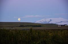 La luna y el volcn (Lou Rouge) Tags: iceland islandia moon fullmoon luna volcn volcano paisaje naturaleza nature sgarur hvolsvllur nocturna noche verano summer night eyjafjallajkull
