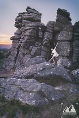 Tor Dancer I (etunar) Tags: dartmoor tor houndtor dancer ballet ballerina white dress whitedress rocks dartmoornationalpark nationalpark model photoshoot nature