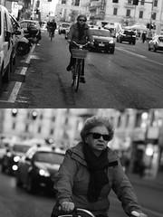 [La Mia Citt][Pedala] (Urca) Tags: milano italia 2016 bicicletta pedalare ciclista ritrattostradale portrait dittico nikondigitale mir bike bicycle biancoenero blackandwhite bn bw 88194