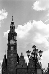 Wroclaw (MCorrigan1983) Tags: film 2016 400tx bw kodaktrix400 nikkor50mmf18d nikonf6 poland wroclaw church lamp lampost
