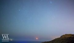 Monn Rise (McCarthy's PhotoWorks) Tags: malta mediterranean moon astronomy cliff crescent horizon lunar monnrise moonphase moonrise moonscape pleiades sea seascape star starry starscape