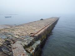 Stevensons Pier (nz_willowherb) Tags: scotland shetland sandwick mist fog leebitten ferry