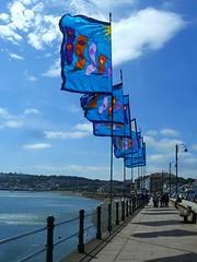 Penzance Promenade (Richard and Gill) Tags: penzance cornwall cornish kernow penwith seaside seafront holiday flags prom promenade