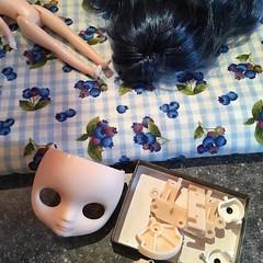 new girl... (gemini angel's art and dolls) Tags: blythe doll middie custom strawberryshortcake blueberrymuffin diy blueberry