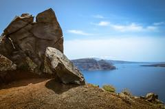Caldera Edge (robin-loo) Tags: caldera santorini aegean oia nikon nikond5100 volcanic rocks slidersunday greece hss