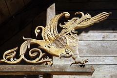 Drachen Game of Thrones (greenoid) Tags: drachen dragon schnitzerei woodwork art kunst haus house gameofthrones got freiburg switzerland