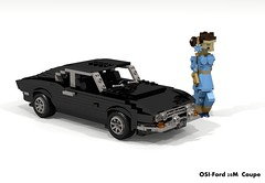 OSI-Ford 20M Coupe (1966) (lego911) Tags: ford osi 20m taunus v6 coupe 1966 1960s classic auto car moc model miniland lego lego911 ldd render cad povray lugnuts challenge 107 saturdaymorningshownshine saturday morning show n shine turin italy officine stampaggi industriali