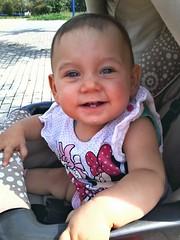 Meine Enkelin Luna, 9 Monate alt - My granddaughter Luna, 9 months old (fleckchen) Tags: mdchen girl enkel enkelin baby granddaughter personen lcheln