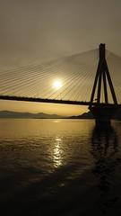 DSC01897 (omirou56) Tags: greece outdoor bridge sunrise sea sonydscwx500 169ratio reflection rioadirio