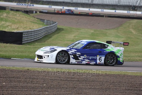 Chris Ingram in the Ginetta GT4 Supercup at Rockingham, August 2016