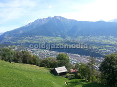 20150927_121703 (coldgazemedia) Tags: photobank stockphoto scenery schweiz switzerland swissvillage swissalps landscape brig birgish mund alps mountain swisshuts alpine alpinehut bluesky blue mountainhuts green meadow outdoor panorama