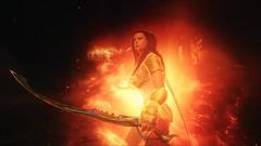 TESV - Mona's flame cloak (tend2it) Tags: kenb elder scrolls skyrim v rpg game pc ps3 xbox screenshot sweetfx enb stephie rawx follower pack mona fire flame cloak sword