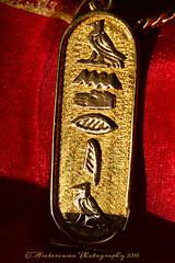 Cartouche (Amberinsea Photography) Tags: cartouche kartouche gold hieroglyphs pendant macro macrophotography amberinseaphotography goldjewelry egypt cairo nikon nikond3200