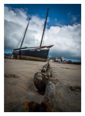 Das Boot (micha.b) Tags: boot cornwall kette meer rahmen schiff strand wasser wolken st ives stives
