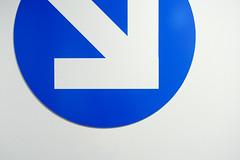 This way (Jan van der Wolf) Tags: map13769vv blue composition compositie minimalism minimalistic minimalisme minimal minimlistic arrow pijl sign wall muur abstract blauw white wit