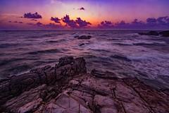 Iratus est Excitatio (miTsu-llaneous) Tags: sunrise seascape rocks toco trinidad trinidadandtobago water sea waves sky clouds nikon d5200 tokina 1116mm