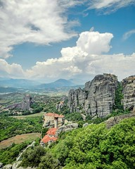 Roussanou Monastery, Meteora (christinadimitriadou) Tags: meteora nature landscape clouds monastery mountain rocks