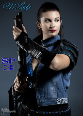 Sucker Punched 3 - M'Lady (FightGuy Photography) Tags: suckerpunched womenwithweapons warriorwoman warrior badass fightguyphotography studiophotography dangerous armor scalemaile shotgun pumpaction vest bracers piercing cosplay