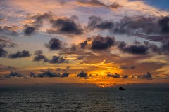 Sunset at sea! (Squareburn) Tags: offshore sony africa nigeria ship seascape sunset