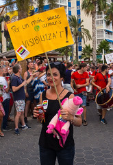 Benidorm Gay Pride March September 2016. (CWhatPhotos) Tags: benidorm spain spanish resort costa blanca photographs photograph pics pictures pic picture image images foto fotos photography artistic cwhatphotos that have which with contain em10 omd olympus esystem four thirds digital camera lens olympusem10 mk ii 43 mft micro seaside holiday september 2016 gay pride gaypride2016 march parade along front promenade color colors colours colour people happy fun times flickr