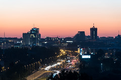 Pozna skyline (Przemek Turlej) Tags: pozna poznan posen polska poland polen skyline cityscape highrises skyscrapers highway andersiacenter batyktower r22 turlej nikond750 tamron70300mm panoramicphoto sunset ue eu city urban eveningrushhour carlights lowlight longexposure nightscape citycentre cityatnight